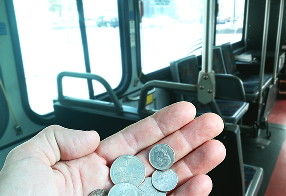 paying bus fare